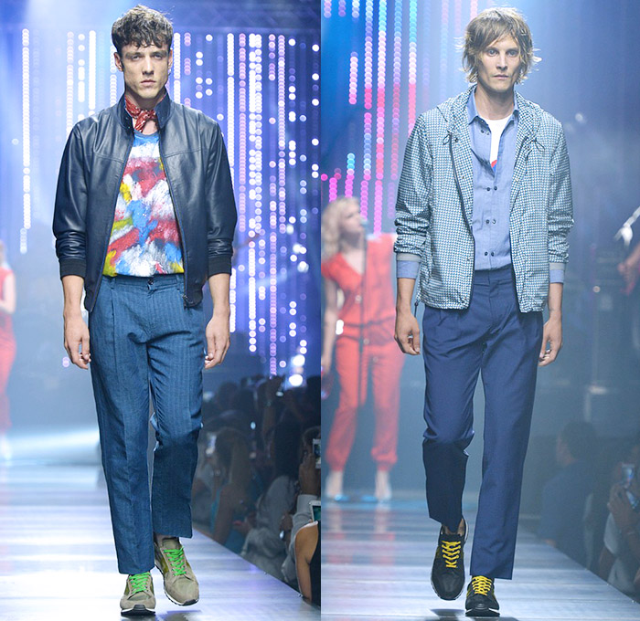 Tru Trussardi 2015 Spring Summer Mens Runway Denim Jeans