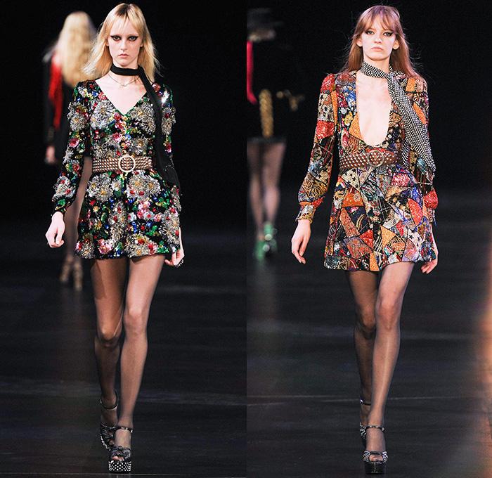 Fashion trend forecast 2017 - Saint Laurent 2015 Spring Summer Womens Runway Denim