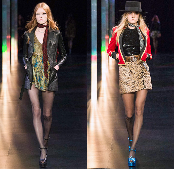 Saint Laurent 2015 Spring Summer Womens Runway | Denim