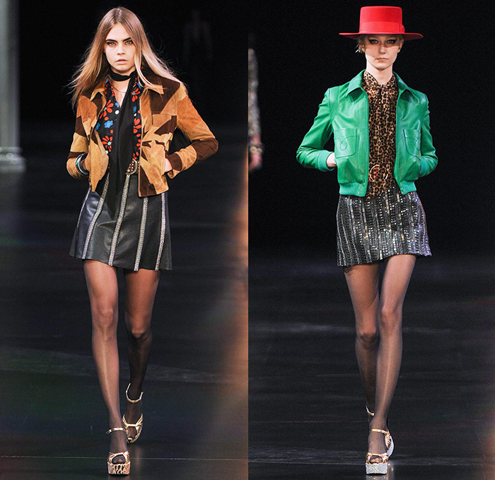 Saint Laurent 2015 Spring Summer Womens Runway Denim