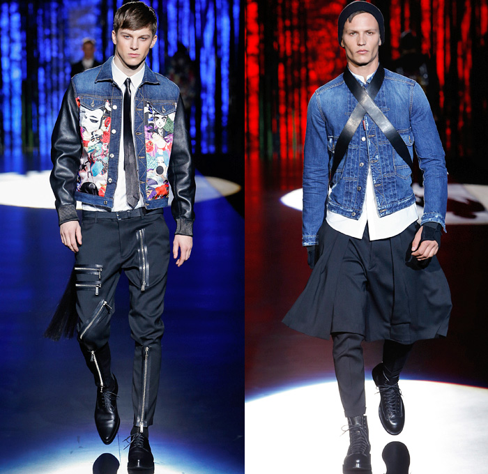 Mens fashion forecast 2017 - Dsquared2 2016 2017 Fall Autumn Winter Mens Runway Denim