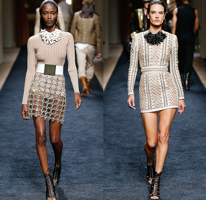 Balmain 2016 Resort Cruise Womens Runway Catwalk Looks