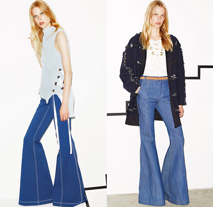 Derek Lam 10 Crosby 2016 Resort Cruise Pre-Spring Womens Lookbook  Presentation - 1970s Seventies