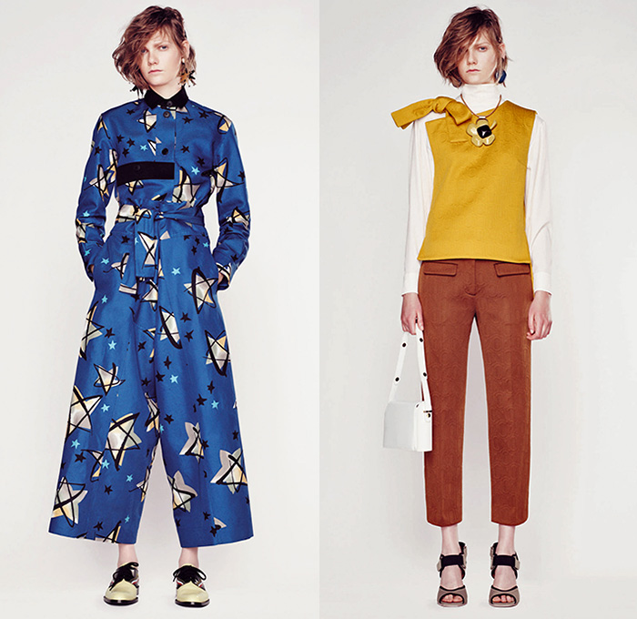 Marni Italy 2017 Resort Cruise Pre Spring Womens Lookbook Presentation 1970s Seventies Denim Jeans