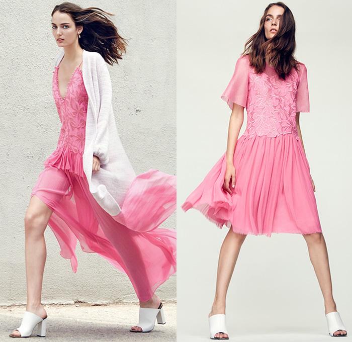 Rebecca taylor georgette maxi dress