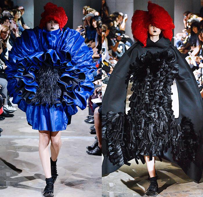 comme des gar ons 2016 spring summer womens runway denim jeans fashion week runway catwalks. Black Bedroom Furniture Sets. Home Design Ideas