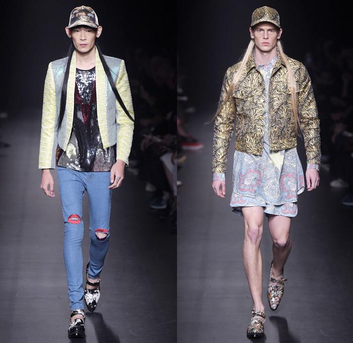Dresscamp 2016 spring summer mens runway looks denim for Mercedes benz clothing men