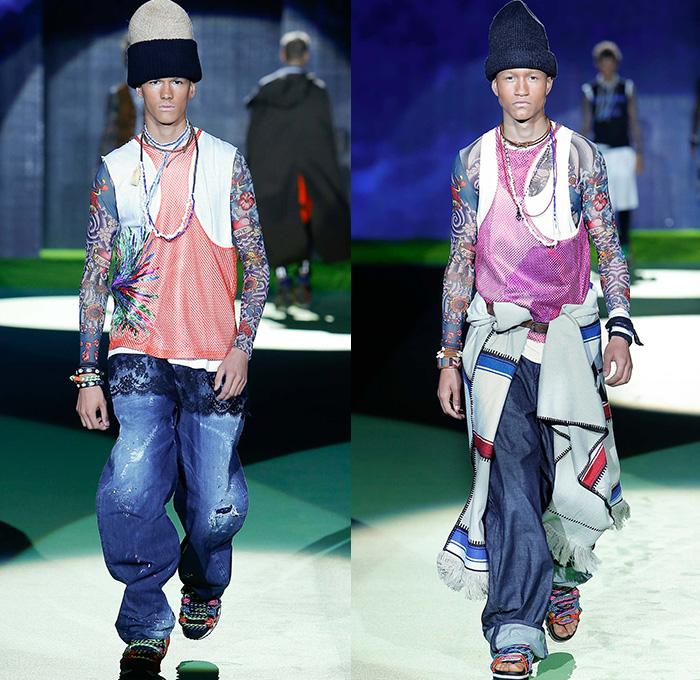 Mens Cargo Denim Jeans