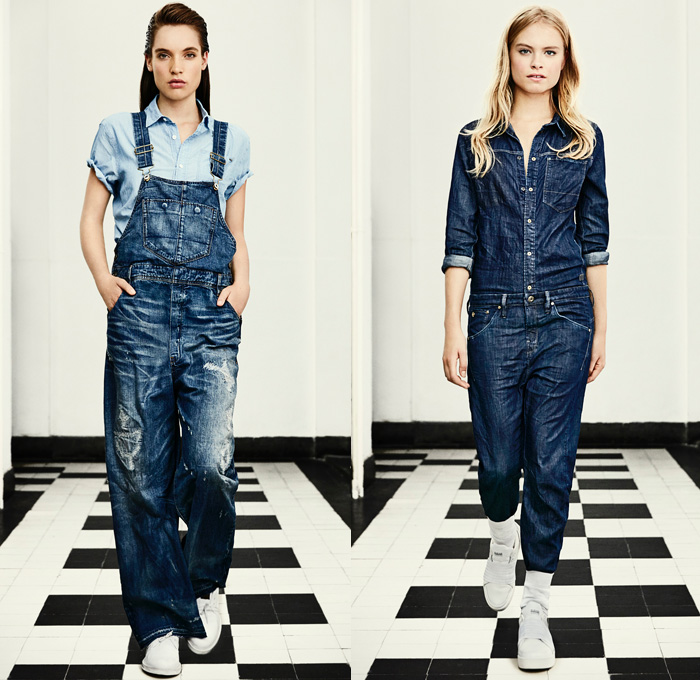 g star raw 2016 spring summer womens lookbook denim jeans fashion week runway catwalks. Black Bedroom Furniture Sets. Home Design Ideas