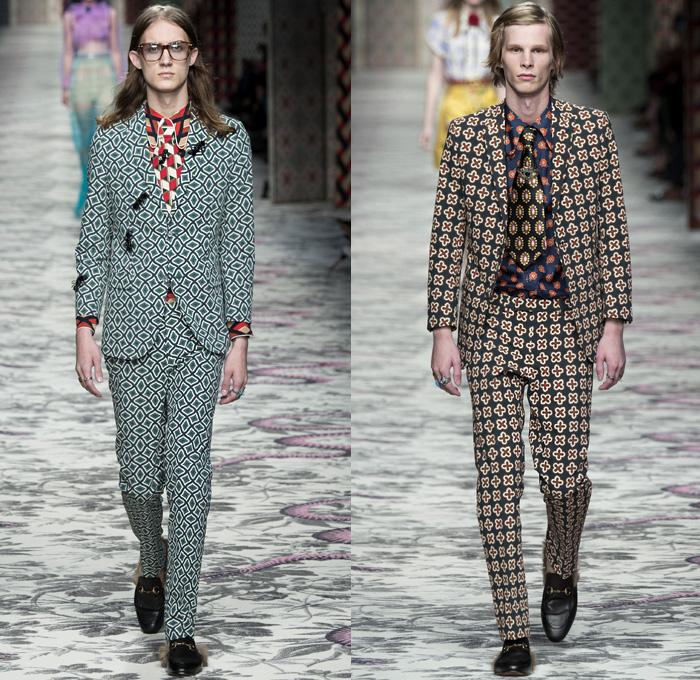0ce163e39fb Gucci 2016 Spring Summer Mens Runway Catwalk Looks Designer Alessandro  Michele - Milano Moda Donna Milan