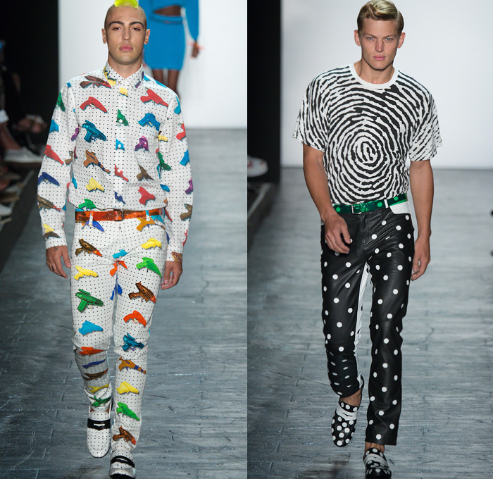Jeremy Scott 2016 Spring Summer Mens Runway Looks Denim