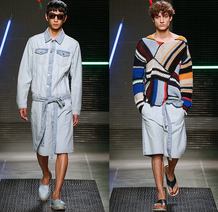 Msgm 2016 spring summer mens runway catwalk looks denim for Massimo giorgetti msgm