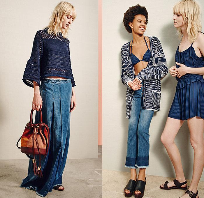 See by Chlou00e9 Paris 2016 Spring Summer Womens Presentation | Denim Jeans Fashion Week Runway ...