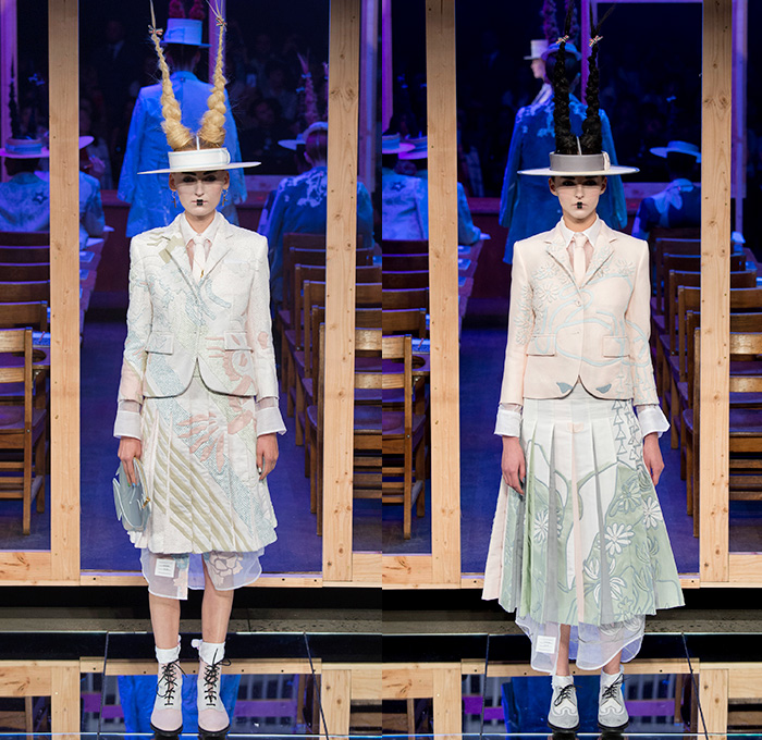 f9104efd7150 Thom Browne 2016 Spring Summer Womens Runway Catwalk Looks - New York  Fashion Week - Japanese