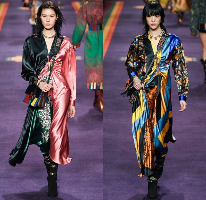 Etro 2017 2018 Fall Autumn Winter Catwalk Looks Denim