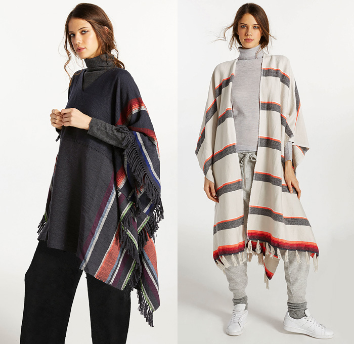 lemlem 2017-2018 Fall Autumn Winter Womens Lookbook Presentation - New York Fashion - Made in Africa Sustainable Design Knit Weave Linen Sweater Jumper Tunic Blouse Long Sleeve Shirt Ruffles Ornamental Decorative Art Tribal Ethnic Folk Peplum Zigzag Pattern Drawstring Stripes Turtleneck V-Neck Hood Sweatshirt Vest Waistcoat Poncho Cloak Fringes Tassels Outerwear Robe Coat Cloak Bell Sleeves Maxi Dress Jogger Sweatpants Onesie Jumpsuit Coveralls Maxi Dress Noodle Spaghetti Strap