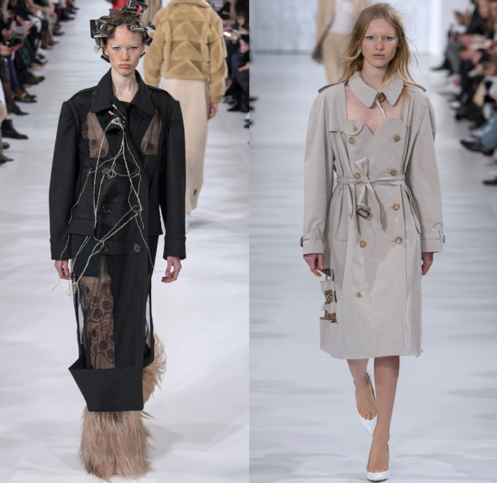 Maison Margiela 2017-2018 Fall Autumn Winter Womens Runway Catwalk Looks - Mode à Paris Fashion Week Mode Féminin France - Political Diversity Creative Freedom Marilyn Monroe Old West Military Lasercut Perforated Cutout Layers Herringbone Tweed Velvet Sheer Chiffon Tulle Silk Satin Lace Oversized Outerwear Trench Coat Decorative Art Tribal Geometric Snakeskin Bomber Jacket Mix Match Mash Up Patchwork Embroidery Adorned Decorated Bedazzled Metallic Studs Sequins Knit Crochet Weave Grommets High Waisted Slim Denim Jeans Flames Ruffles Plaid Check Fringes Drapery Frayed Raw Hem Bearskin Bag Tall Fur Plush Cap Hat Handbag Safety Pin Foil Boots