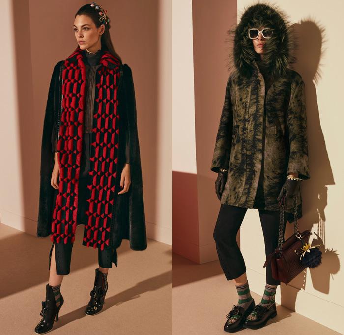 787251b70c3 Fendi 2017 Pre Fall Autumn Womens Lookbook Presentation - Outerwear Fur  Plush Shearling Coat Hanging Sleeve
