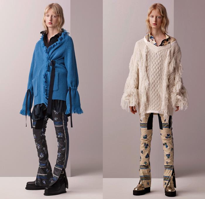 Sacai 2017 Pre Fall Autumn Womens Lookbook Denim Jeans