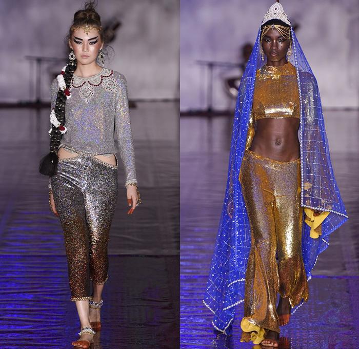 Indian British Fashion Designer Sequins