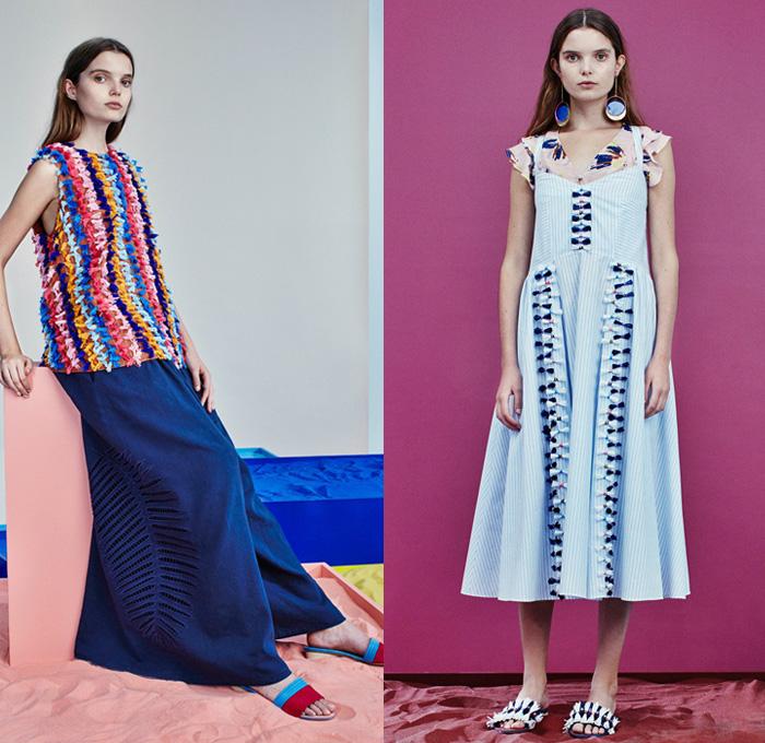 foto de Tanya Taylor 2017 Spring Summer Womens Presentation Denim Jeans Fashion Week Runway Catwalks