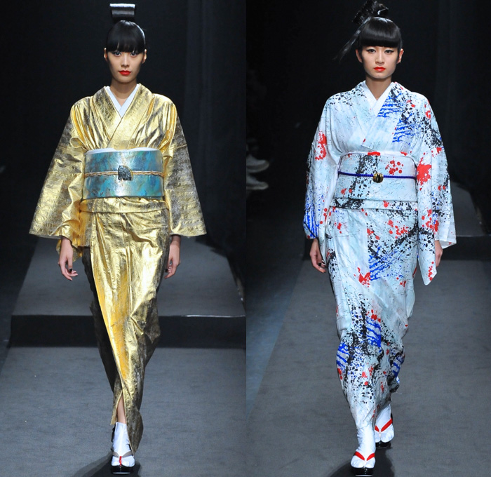 Yoshikimono 2017 Spring Summer Womens Runway Denim Jeans Fashion Week Runway Catwalks Fashion