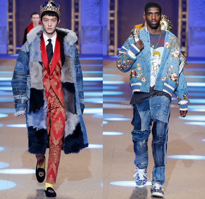 Dolce Gabbana 2018 2019 Fall Autumn Winter Mens Runway Denim