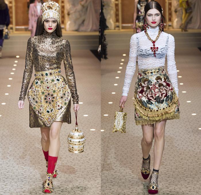 Milan Fashion Week Dolce And Gabbana Open Catwalk