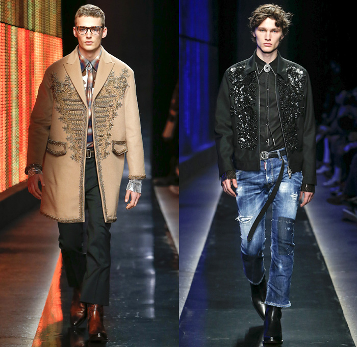 Dsquared2 2018 2019 Fall Autumn Winter Mens Runway Denim
