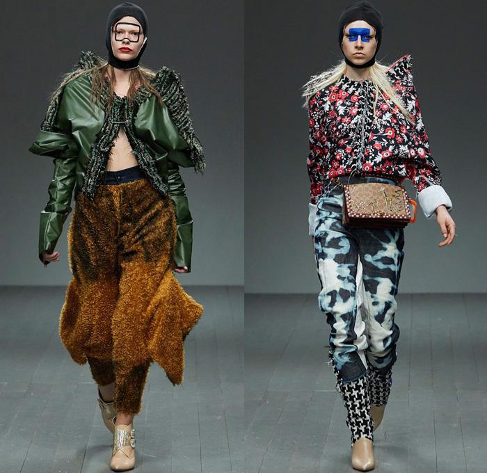 Matty Bovan 2018 2019 Fall Autumn Winter Womens Runway Denim Jeans
