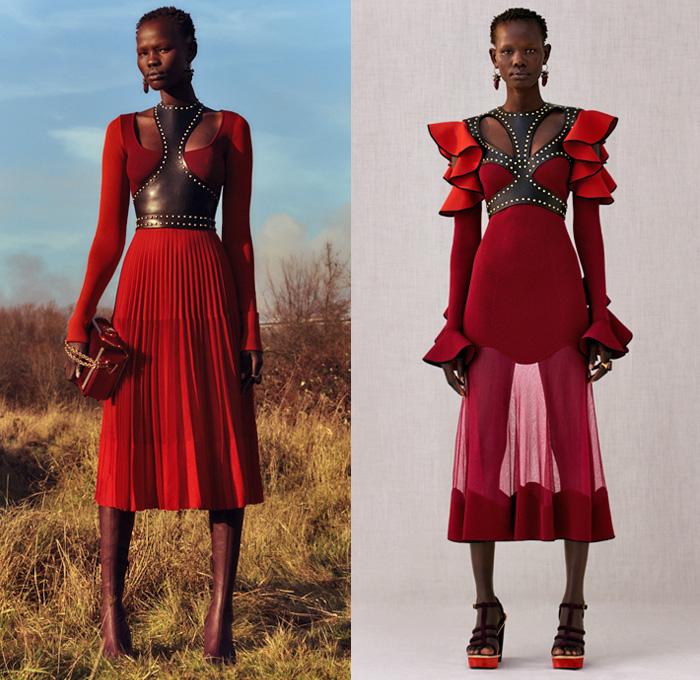 Alexander Mcqueen 2018 Pre Fall Autumn Womens Looks