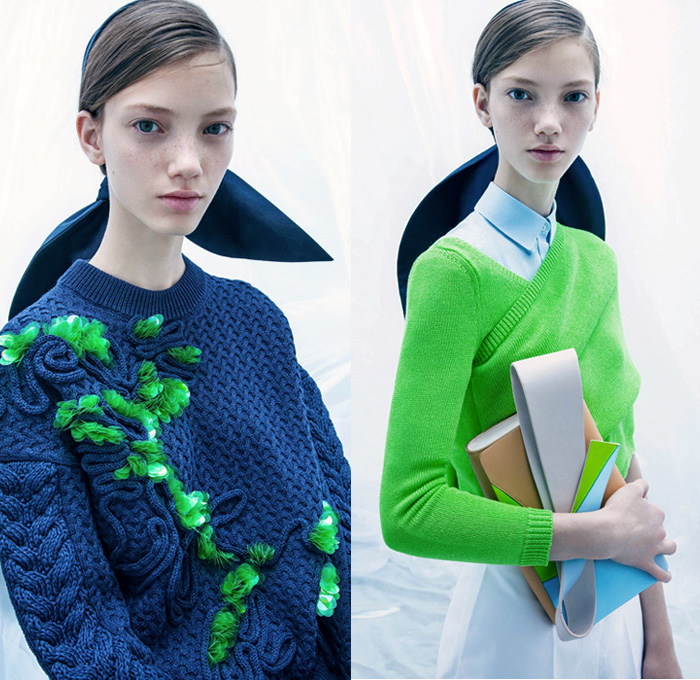 DELPOZO 2018 Resort Cruise Pre-Spring Womens Lookbook Presentation - Sculptural Cape Cloak Outerwear Jacket Blazer Chunky Knit Wrap Sweater Jumper Blouse Shirt Bell Wide Leg O'Mutton Sleeves Sleeveless Maxi Dress Goddess Gown Eveningwear Skirt Frock Cropped Wide Leg Trousers Palazzo Pants Shorts Peplum Bowtie Knot Ribbon Embroidery Embellishments Adornments Decorated Bedazzled Jewels Sequins Paillettes Creases Nautical Sailor Stripes Ruffles Frills Flounce Colorblock Bib Harness Strap Sheer Chiffon Organza Tulle Pleats Drapery Strapless Open Shoulders Purse Clutch Tote Handbag Mini Micro Bag Crossbody Flats Ballet Shoes