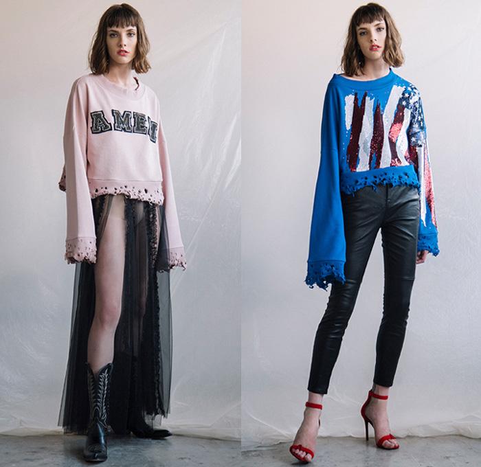 Amen 2018 Spring Summer Womens Looks Presentation Denim Jeans Fashion Week Runway Catwalks