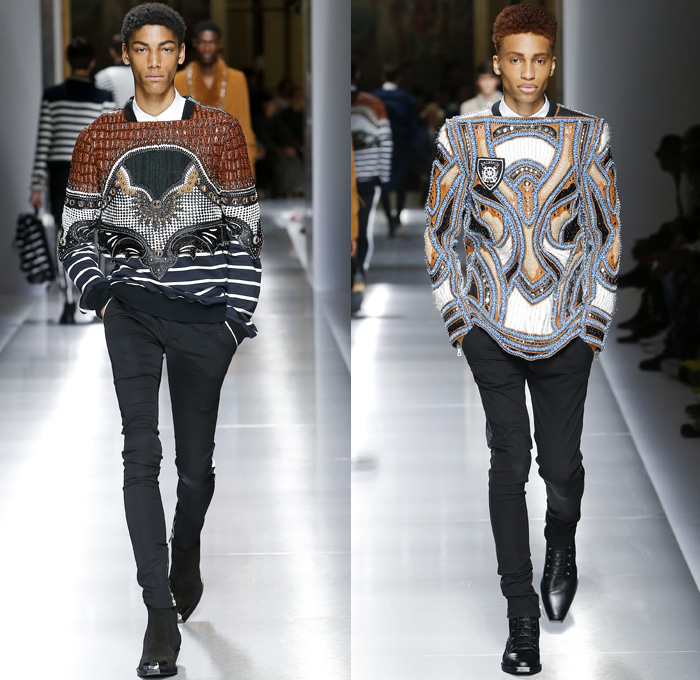 Balmain 2018 Spring Summer Mens Runway Catwalk Denim Jeans Fashion Week Runway Catwalks Fashion Shows Season Collections Lookbooks Fashion Forward Curation Trendcast Trendsetting Forecast Styles Spring Summer Fall Autumn Winter Designer Brands