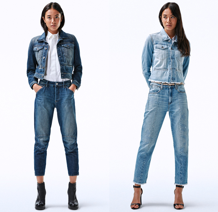G-Star RAW 2018 Spring Summer Womens Lookbook | Denim Jeans Fashion Week Runway Catwalks ...