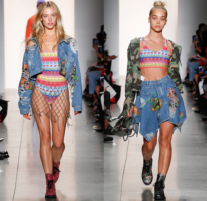 Jeremy Scott 2018 Spring Summer Womens Runway | Denim Jeans Fashion Week Runway Catwalks ...