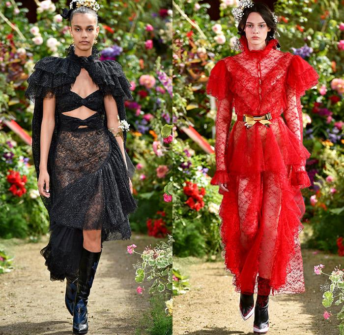 Rodarte 2018 Spring Summer Womens Catwalk Looks Denim