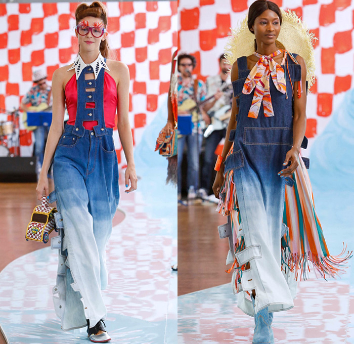 Tsumori Chisato 2018 Spring Summer Womens Runway Denim Jeans Fashion Week Runway Catwalks Fashion Shows Season Collections Lookbooks Fashion Forward Curation Trendcast Trendsetting Forecast Styles Spring Summer Fall Autumn Winter Designer Brands