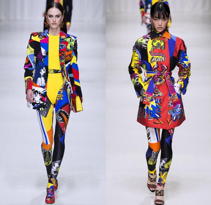Summer Motorcycle Jacket >> Versace 2018 Spring Summer Womens Runway Looks | Denim Jeans Fashion Week Runway Catwalks ...