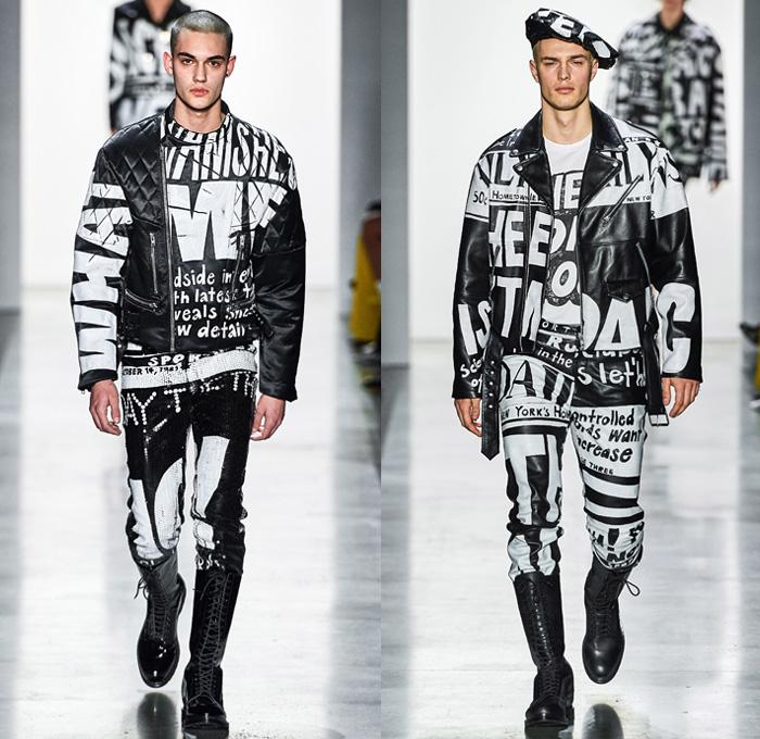 New York Mens Fashion Week 2020 Jeremy Scott 2019 2020 Fall Autumn Winter Runway Looks | Denim