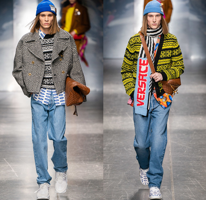 Versace 2019-2020 Fall Autumn Winter Mens Runway | Denim ...