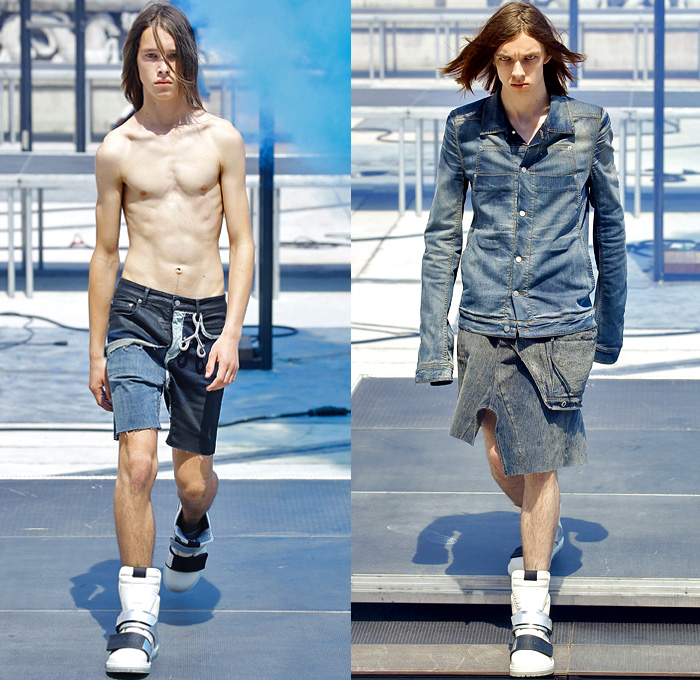 Rick Owens 2019 Spring Summer Mens Runway Looks Denim