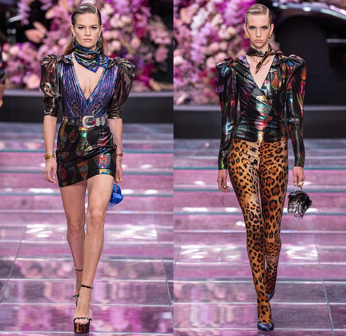 Versace 2020 Spring Summer Womens Runway Looks Denim