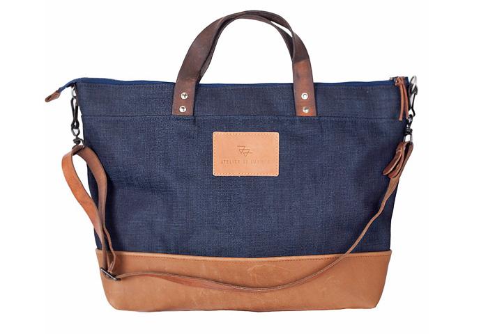 Atelier De L Arm 233 E Japanese Selvage Denim Tote Bags