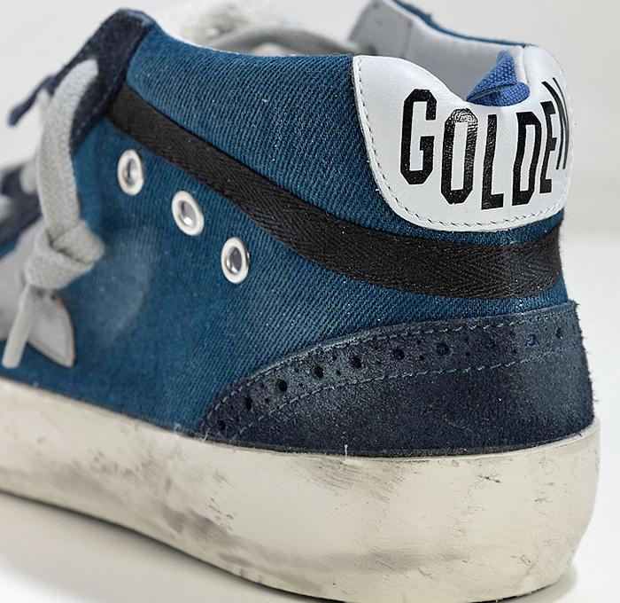 Golden Goose Deluxe Brand Mens Denim Mid Star Sneakers