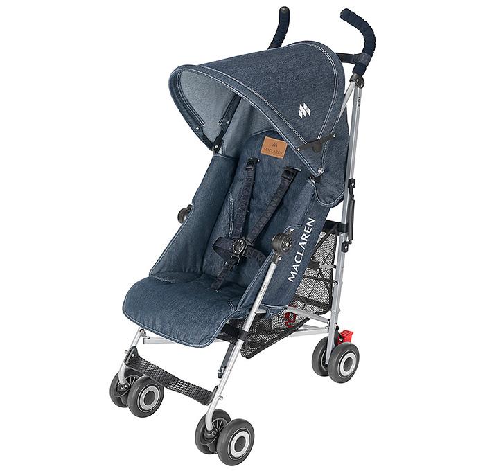maclaren denim quest single and twin triumph buggy strollers denim jeans fashion week runway. Black Bedroom Furniture Sets. Home Design Ideas