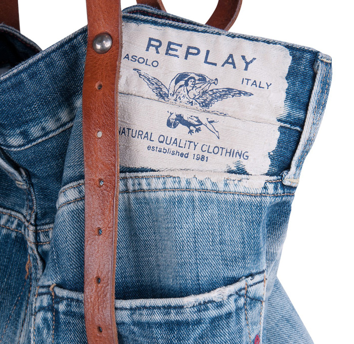 more photos 74fcd 1cf2f Replay Vintage Denim Jeans Tote Bag | Denim Jeans Fashion ...