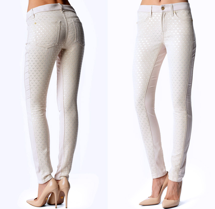 7 For All Mankind The Pieced Double Knit Skinny Jeans | Denim ...