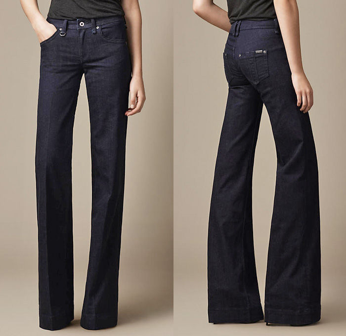 Burberry 2013 Summer Denim Indigo Wash Flare Fit Jeans | Denim ...