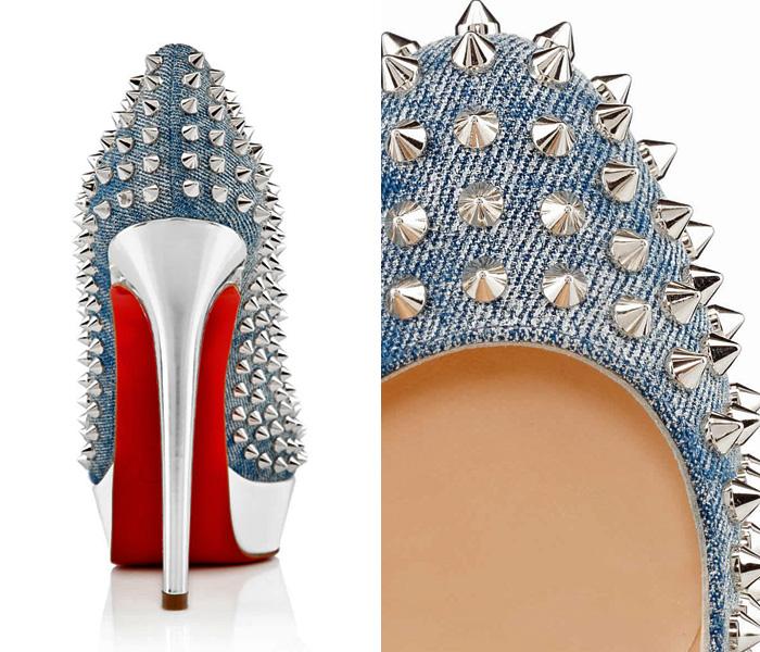 best service b3163 49fc5 Christian Louboutin Made in Denim Footwear Picks | Denim ...